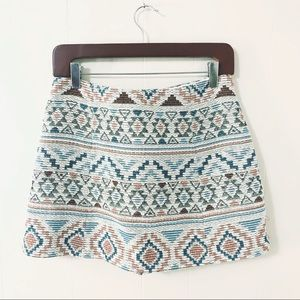Zara Basic patterned knit skort (M)
